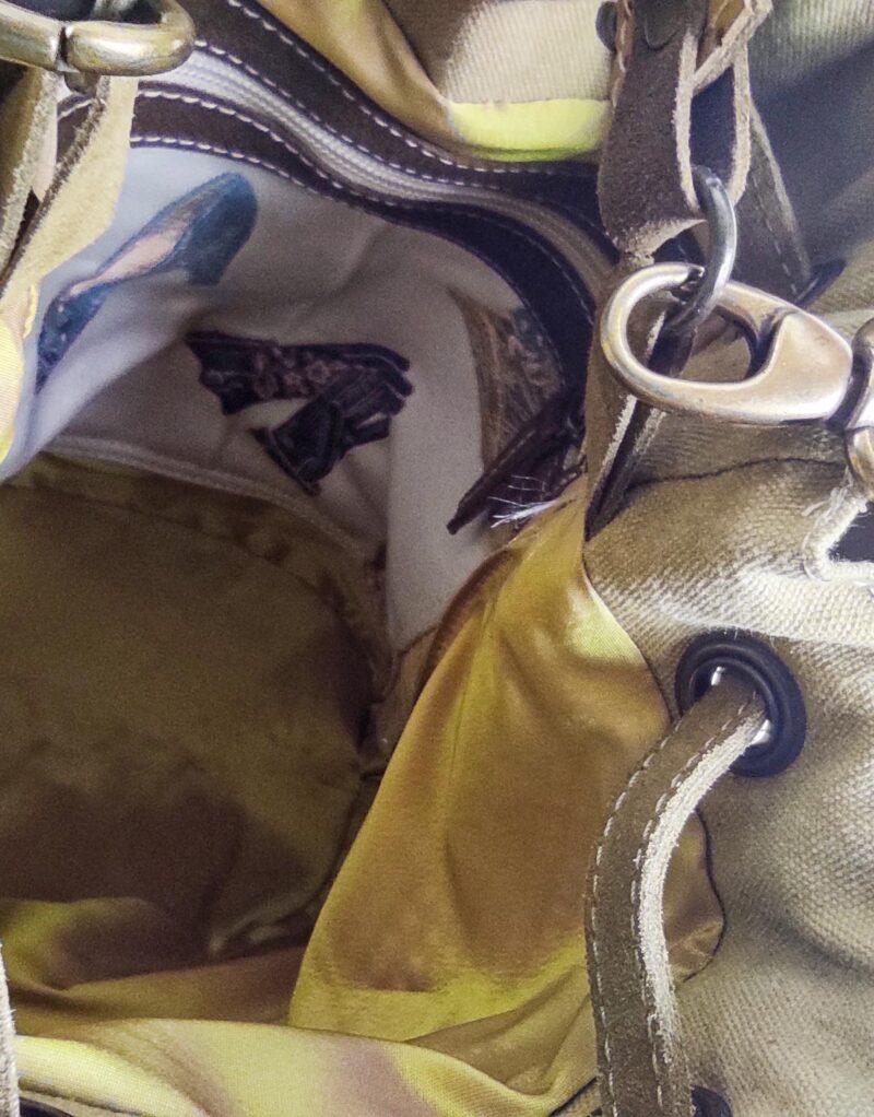Amano – borsa a tracolla in pelle traforata modello Bucket 03-153531