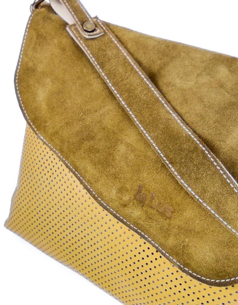 Amano – borsa in pelle traforata Lucille-212115