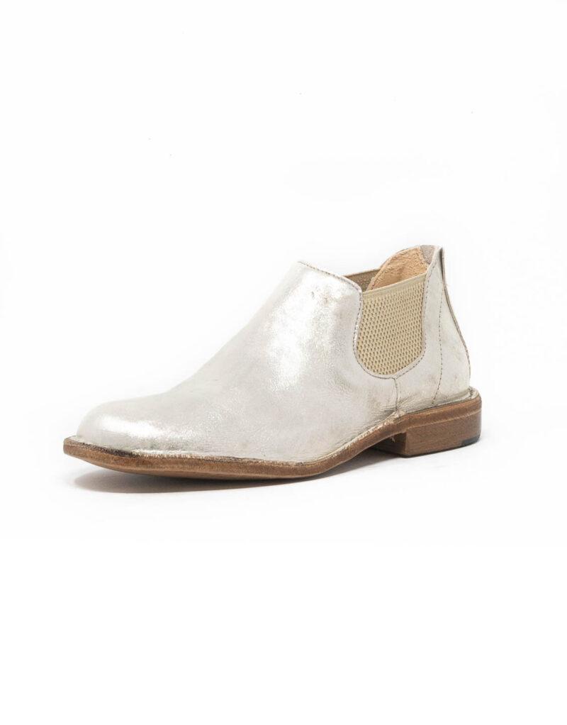 Astorflex - chelsea boot donna in pelle Elflex platino