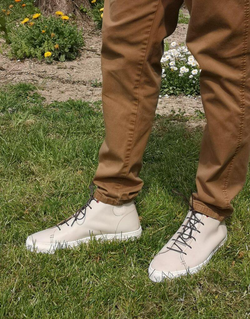 Jump – sneaker alta in pelle bianco – estate 2020-144507