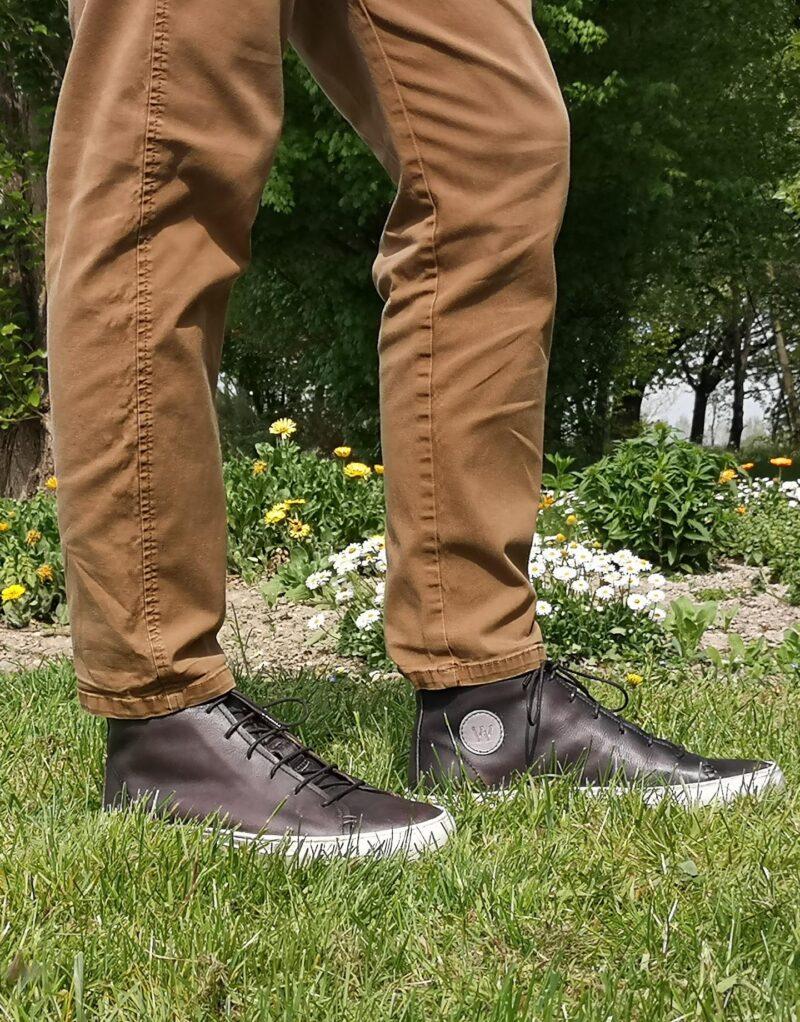 Jump – sneaker alta in pelle nero – estate 2020-145726