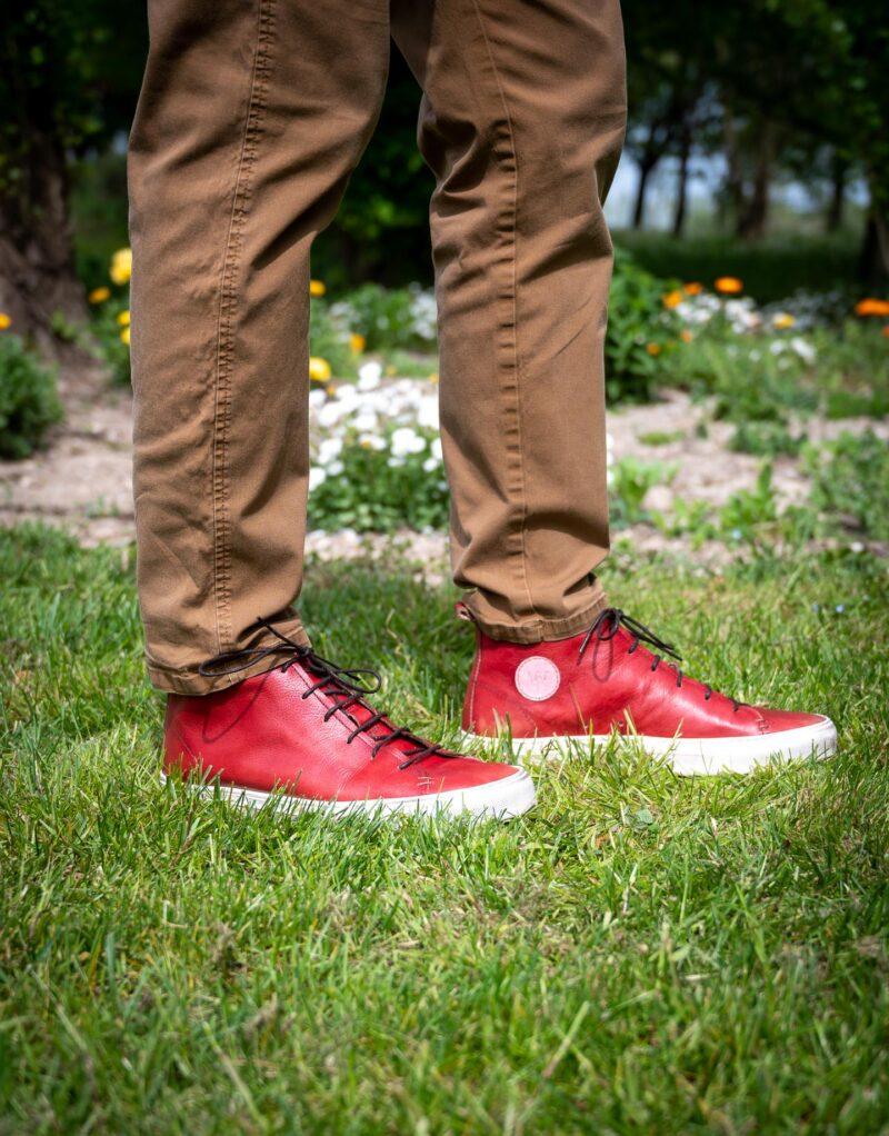 Jump – sneaker alta in pelle rossa – estate 2020-2672
