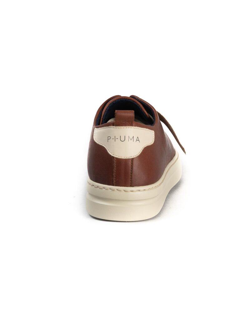 Piuma Uno -sneaker in pelle color ruggine