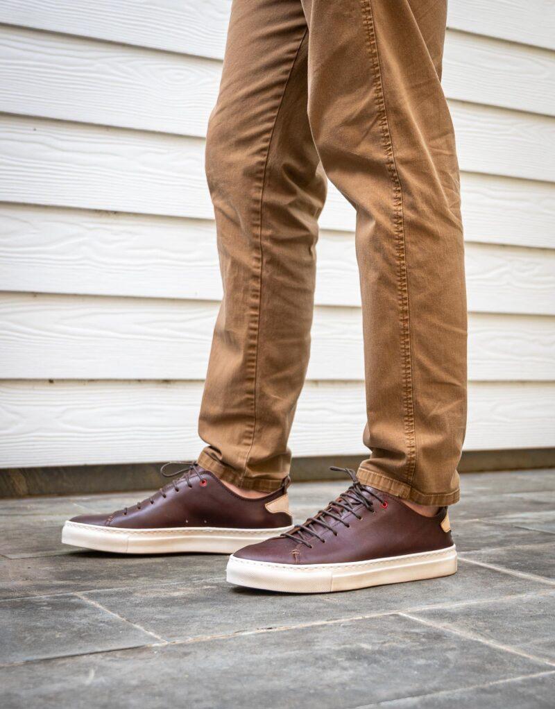 Piuma Uno -sneaker in pelle dark chestnut – estate 2020-2702