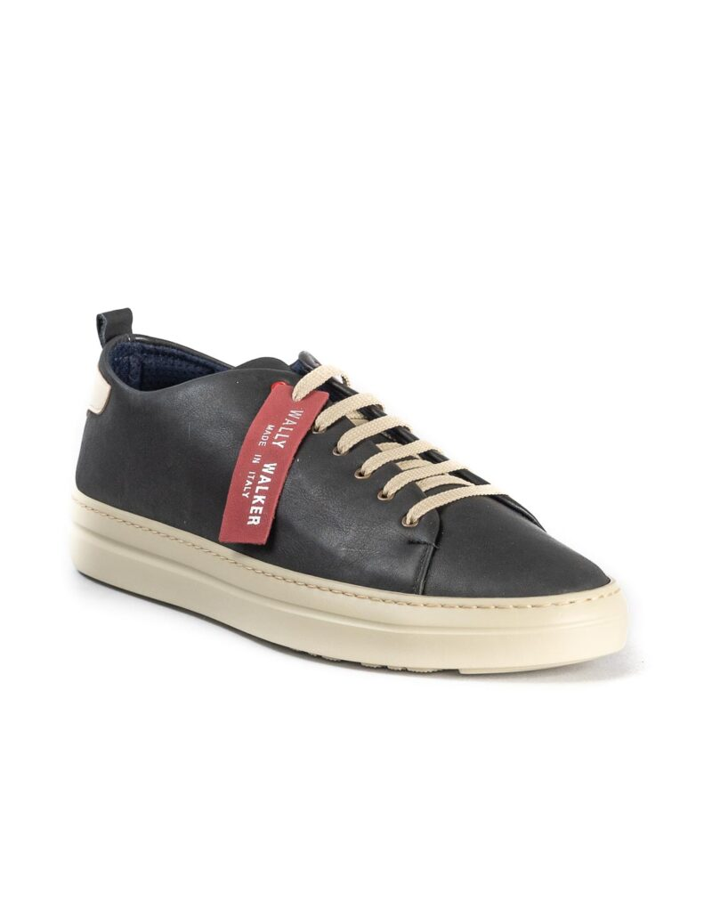 Piuma Uno -sneaker in pelle nero
