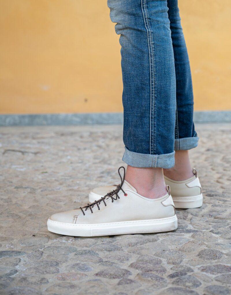 Prima – sneaker in pelle bianco – estate 2020-2619