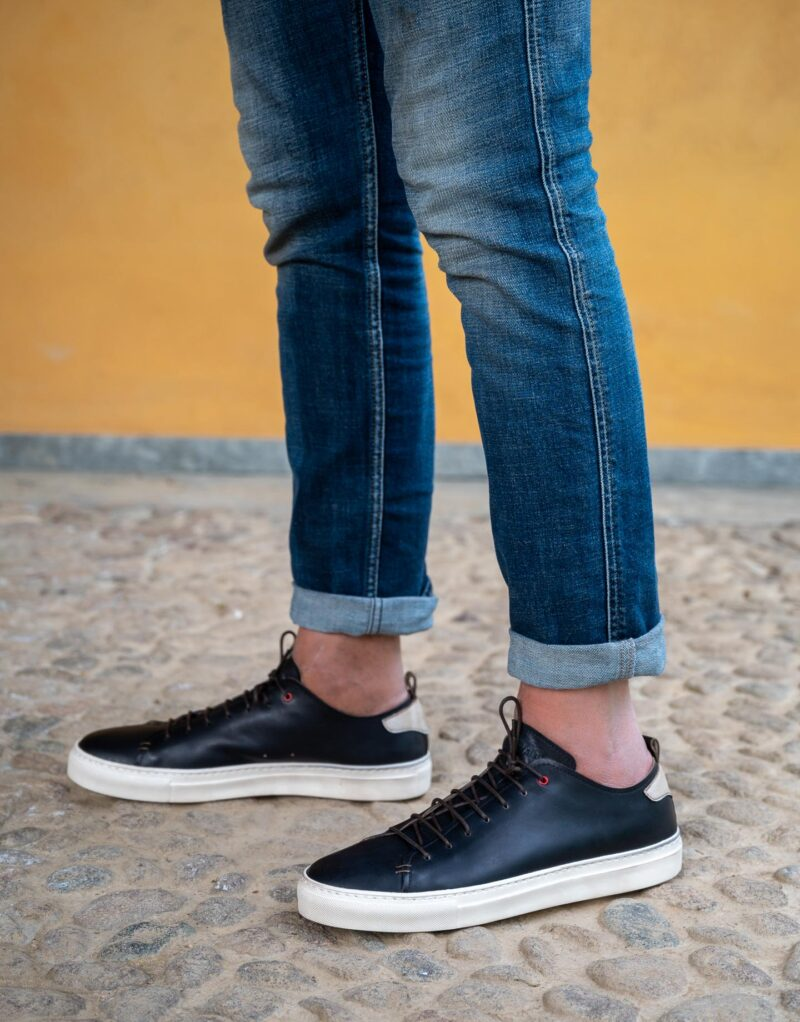 Prima – sneaker in pelle blu – estate 2020-2739