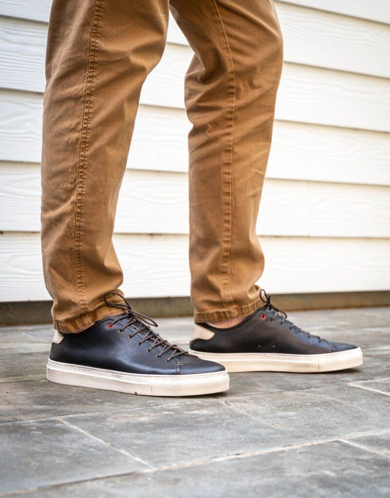 Prima – sneaker in pelle nera – estate 2020-2710
