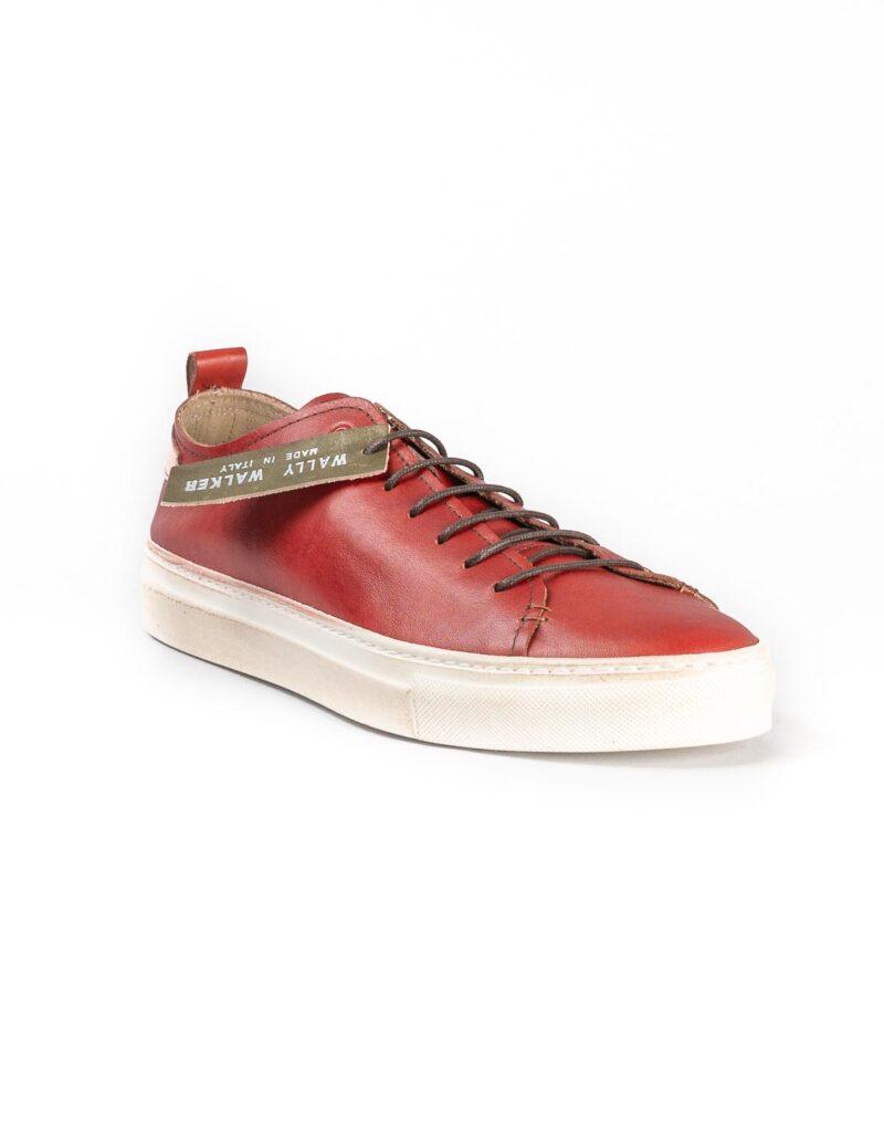 Prima - sneaker in pelle rosso