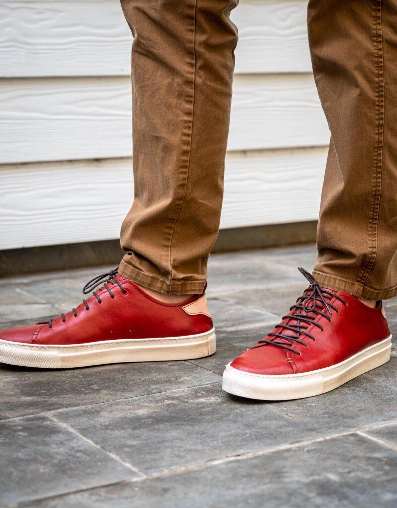 Prima – sneaker in pelle rosso – estate 2020-2715