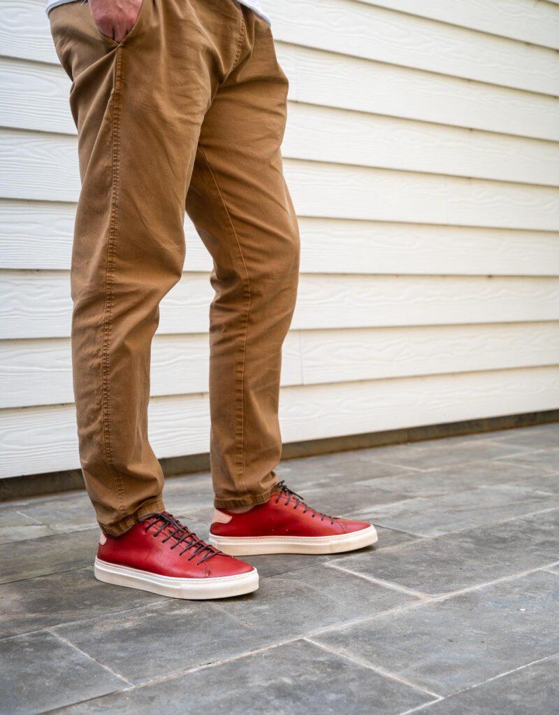 Prima – sneaker in pelle rosso – estate 2020-2718