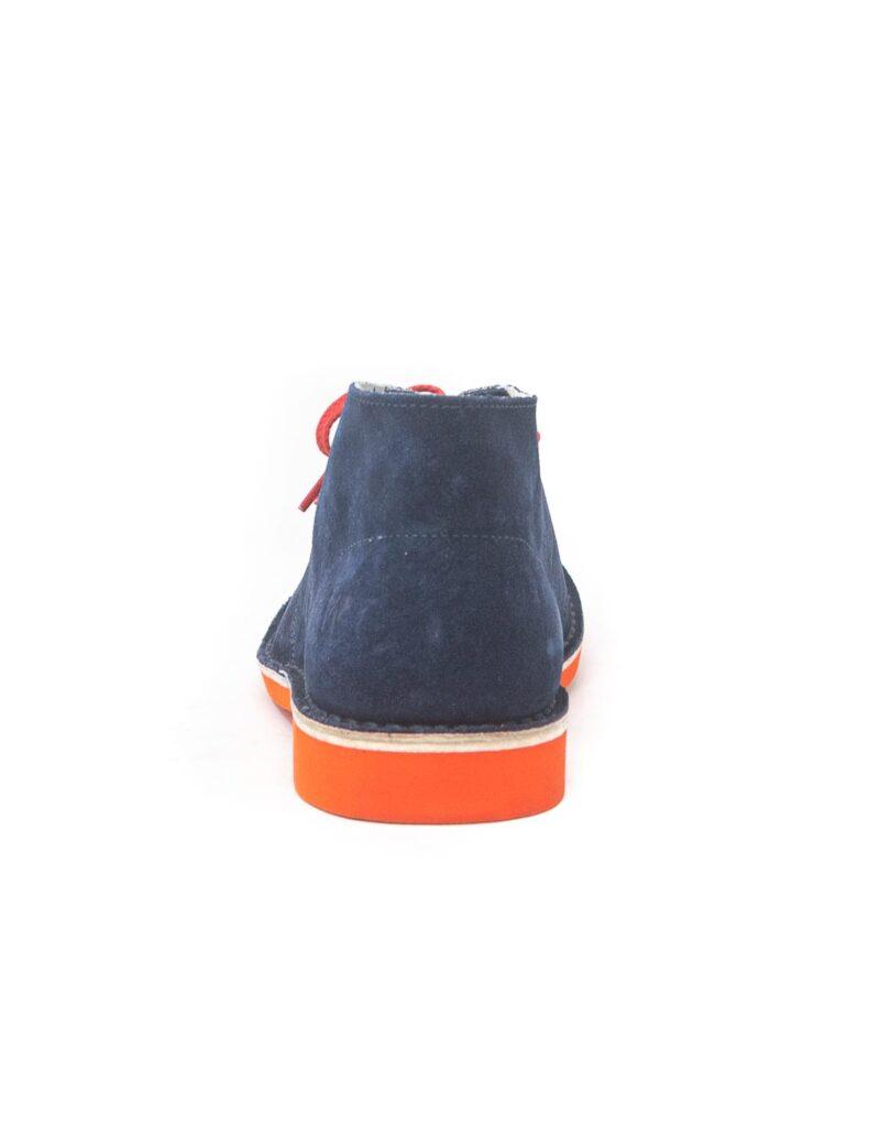 Wally Walker - desert boot in pelle scamosciata Chukka S Color blu