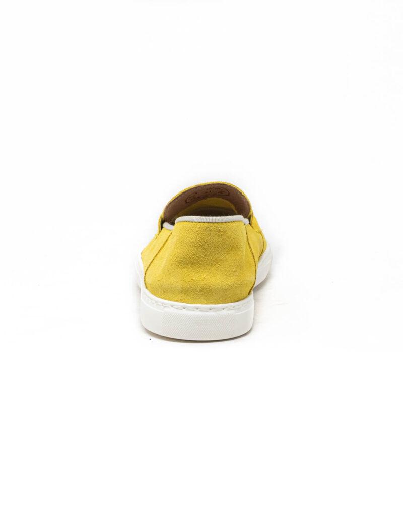Wally Walker - mocassino scamosciato Taormina giallo limone