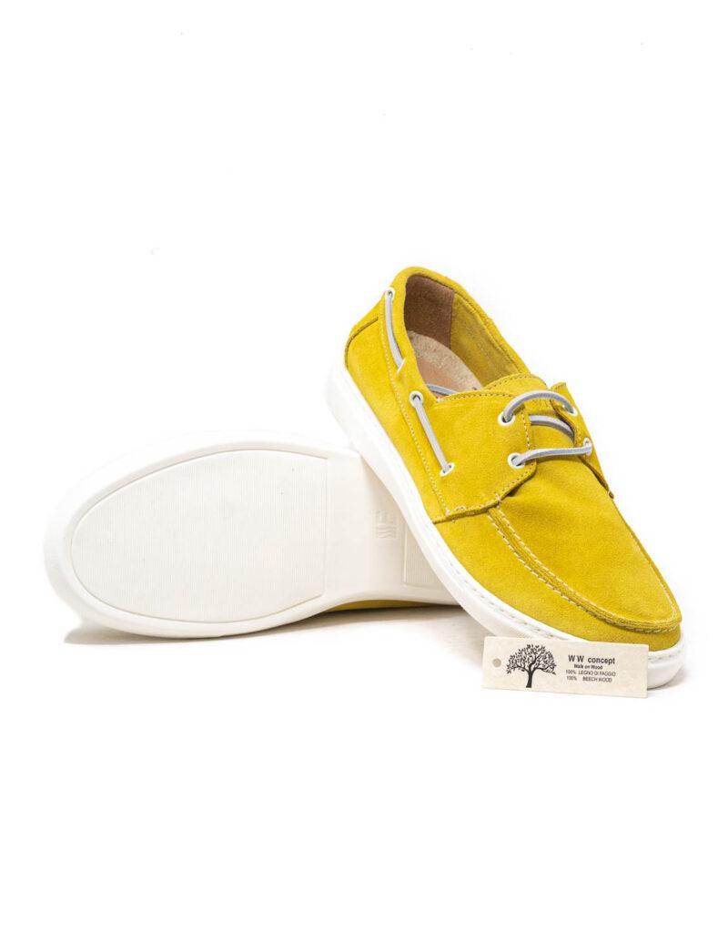 Wally Walker - mocassino scamosciato barca Portofino colore giallo limone