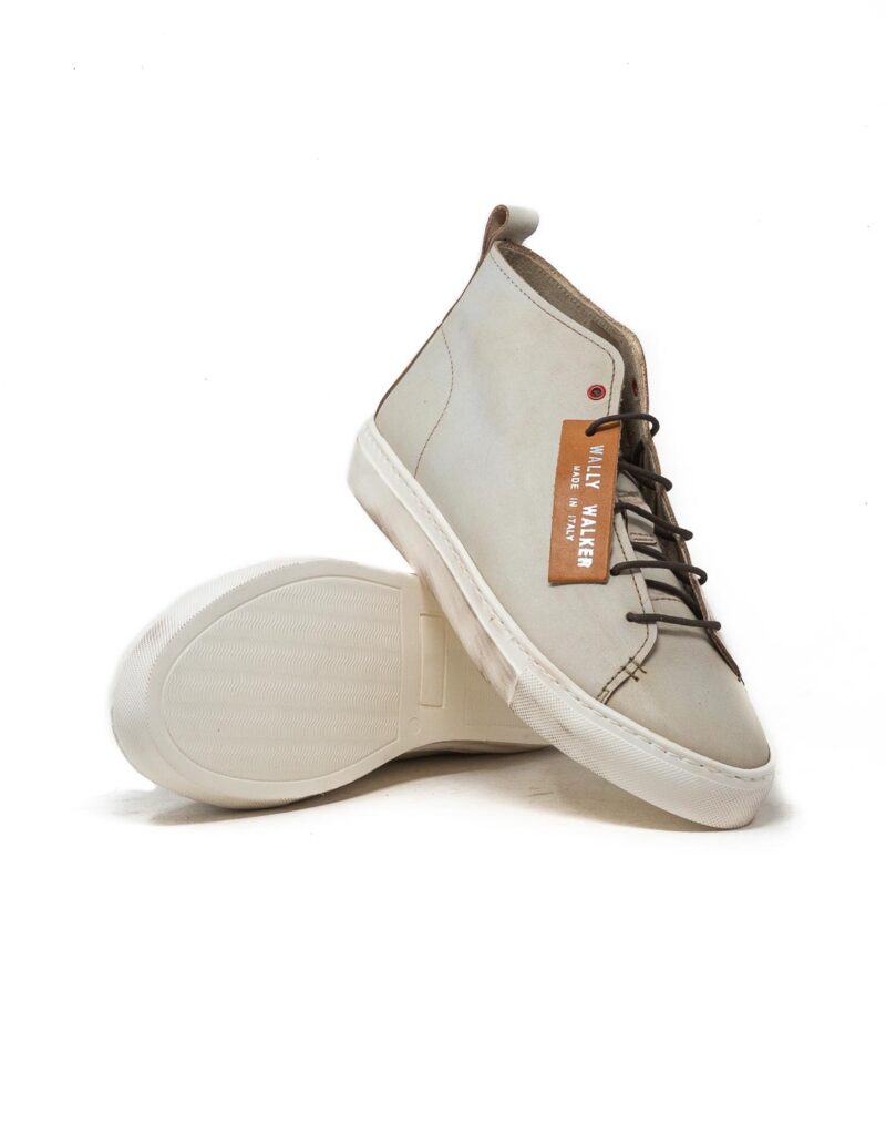 Wally Walker - sneaker alta in pelle Jump bianco