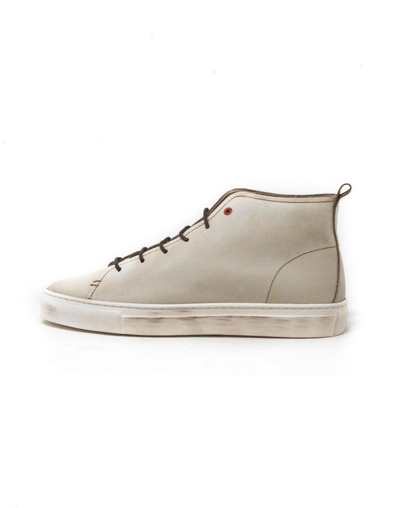 Wally Walker – sneaker alta in pelle Jump bianco-2846
