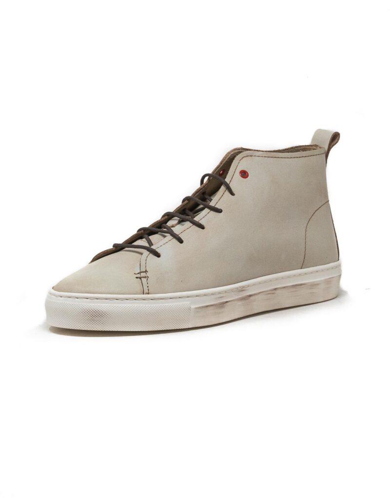 Wally Walker – sneaker alta in pelle Jump bianco-2847