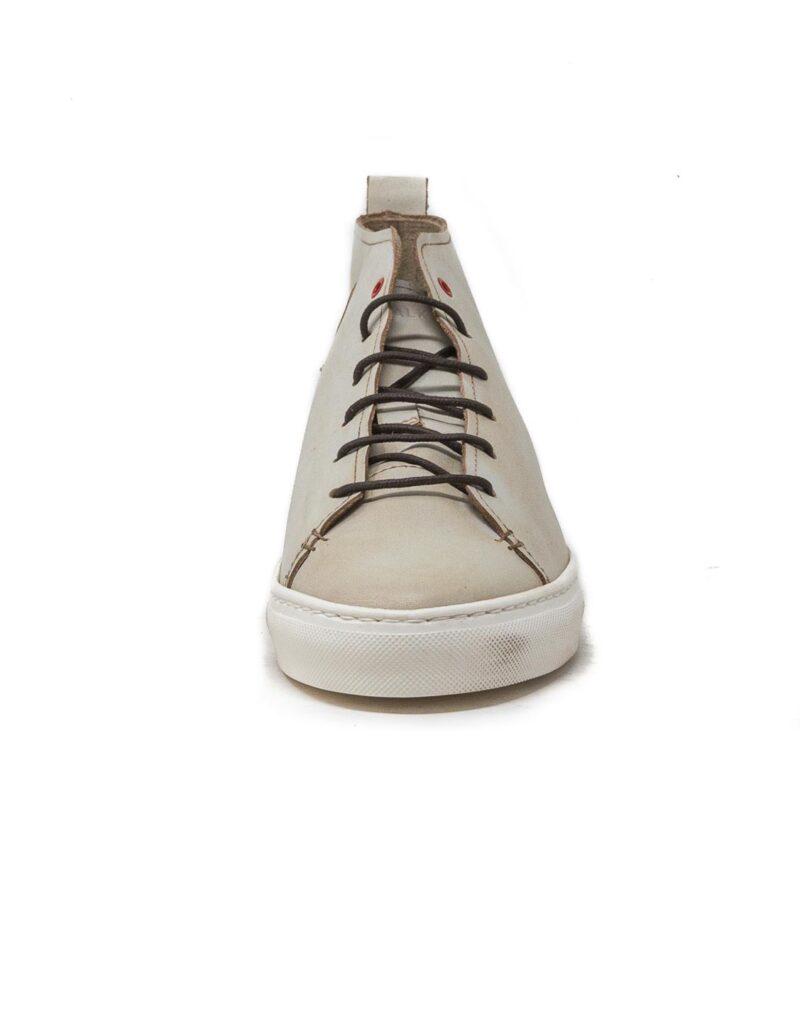Wally Walker – sneaker alta in pelle Jump bianco-2848