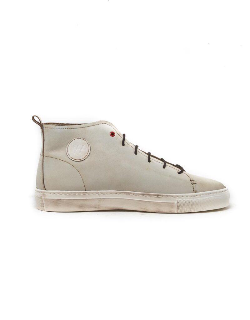 Wally Walker – sneaker alta in pelle Jump bianco-2849