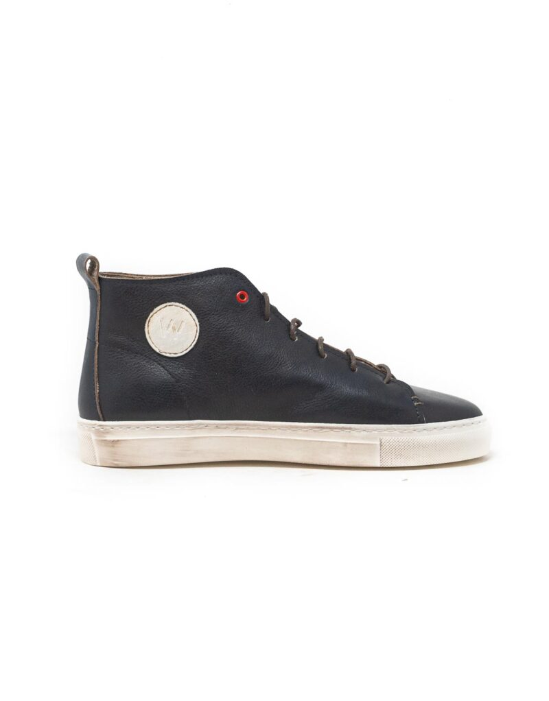 Wally Walker - sneaker alta in pelle Jump navy
