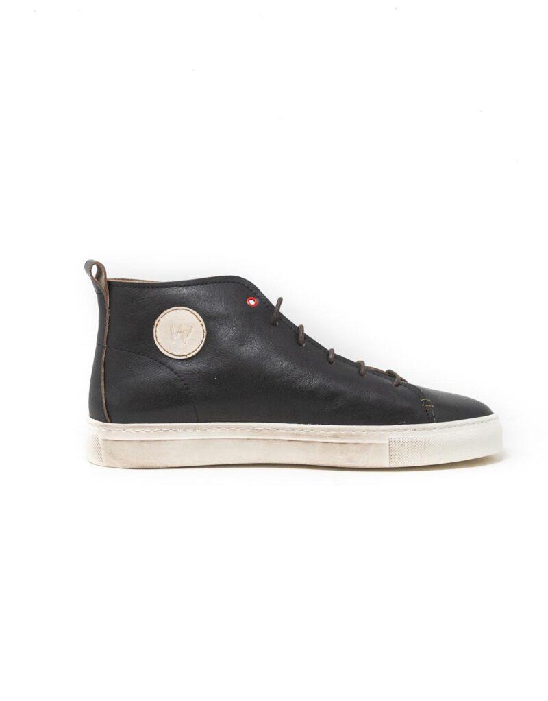 Wally Walker - sneaker alta in pelle Jump nero