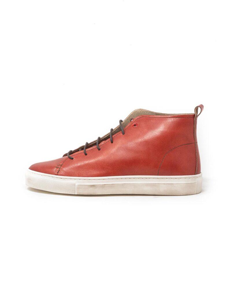 Wally Walker – sneaker alta in pelle Jump rosso-2860