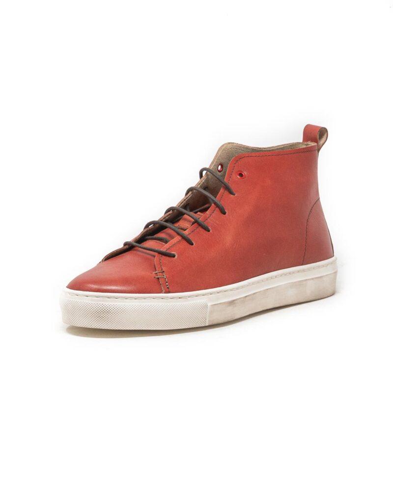Wally Walker – sneaker alta in pelle Jump rosso-2861