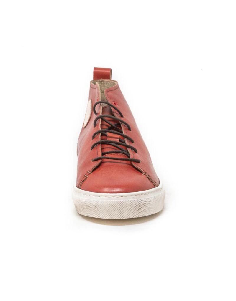 Wally Walker – sneaker alta in pelle Jump rosso-2862