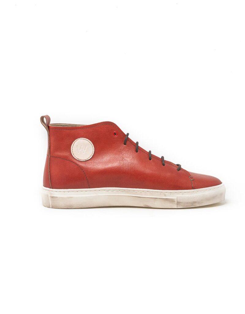 Wally Walker – sneaker alta in pelle Jump rosso-2863
