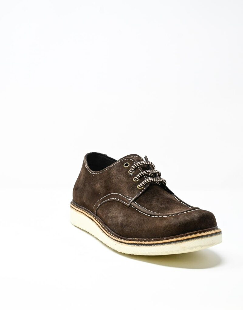 derby uomo scamosciato Jalef dark chestnut – Wally Walker -4426