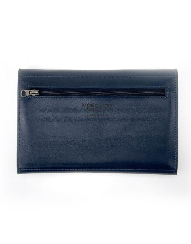 portafoglio in pelle concia vegetale blu by Moroeco-5945