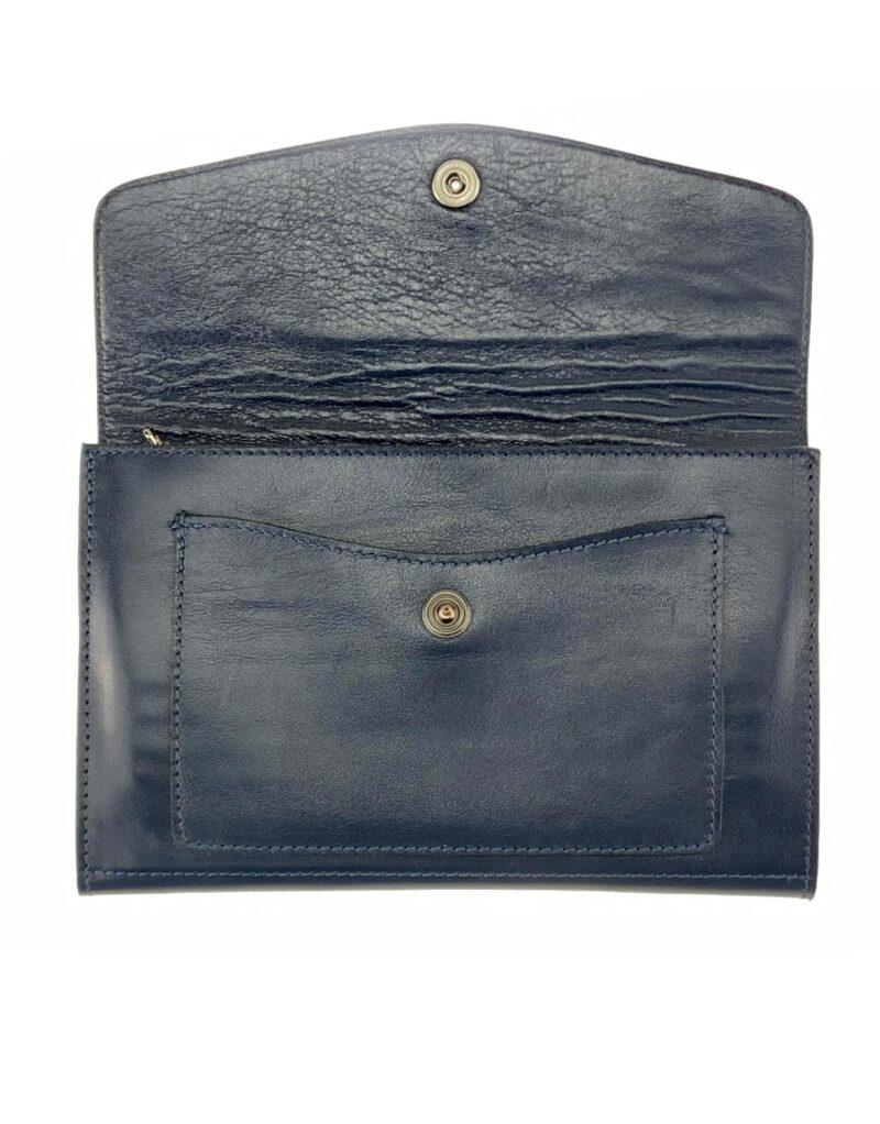 portafoglio in pelle concia vegetale blu by Moroeco-5946