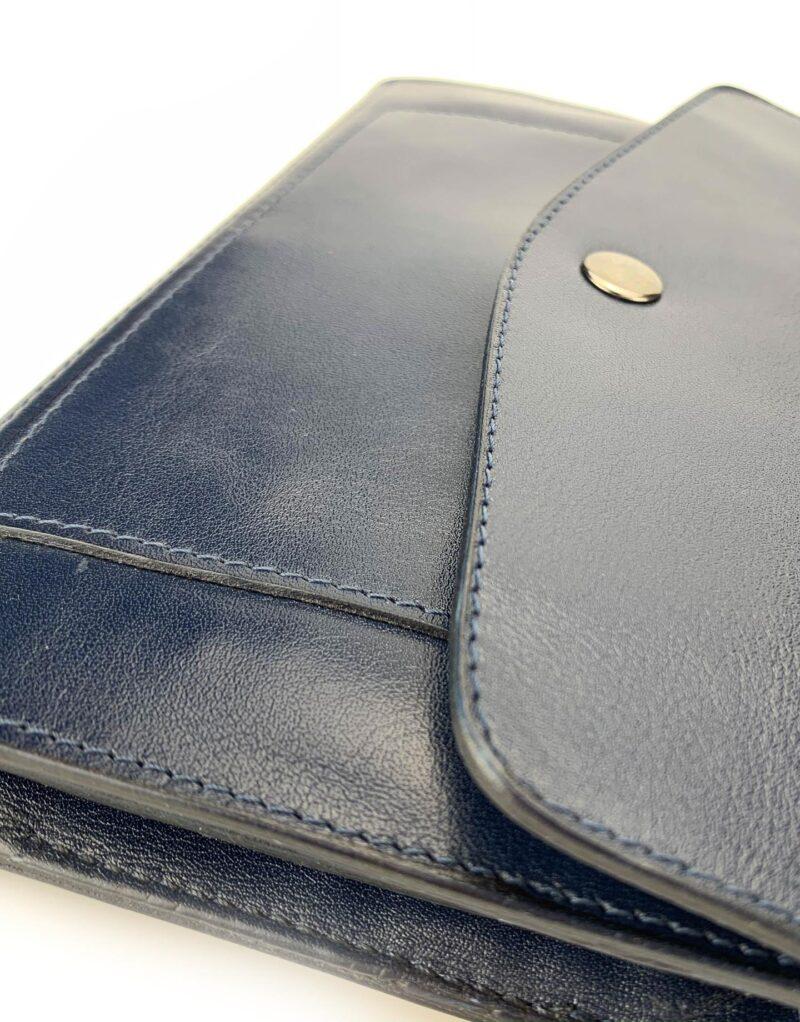 portafoglio in pelle concia vegetale blu by Moroeco-6012