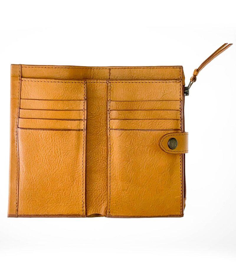 portafoglio in pelle concia vegetale gialla by Moroeco-5809