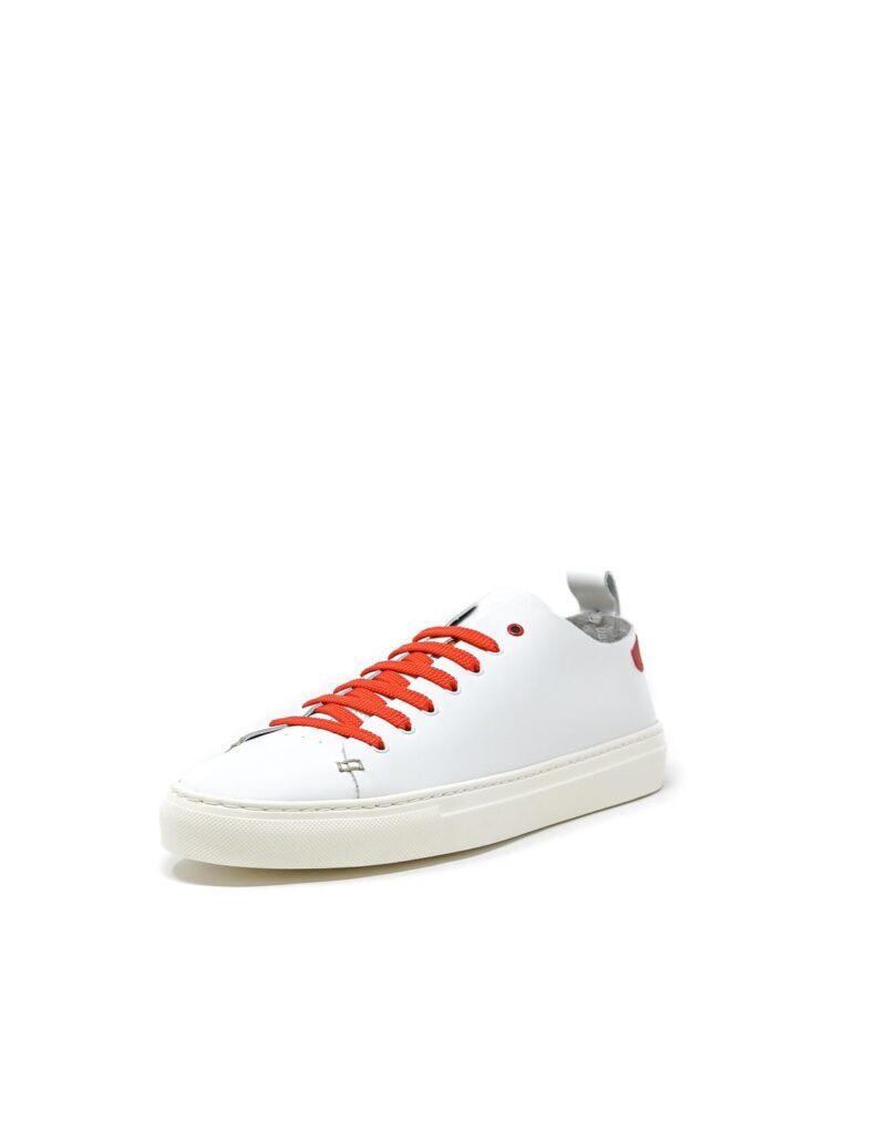 sneaker Piuma in pelle bianca e inserti rossi-5536