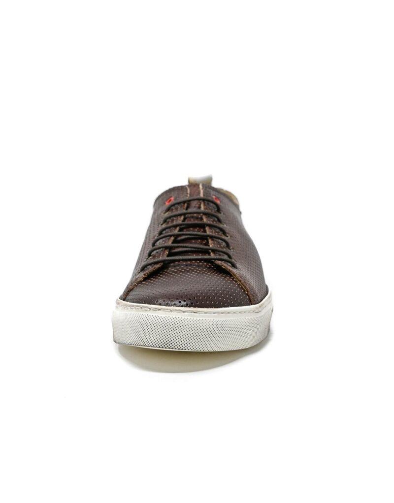 sneaker Prima in pelle traforata america-5517