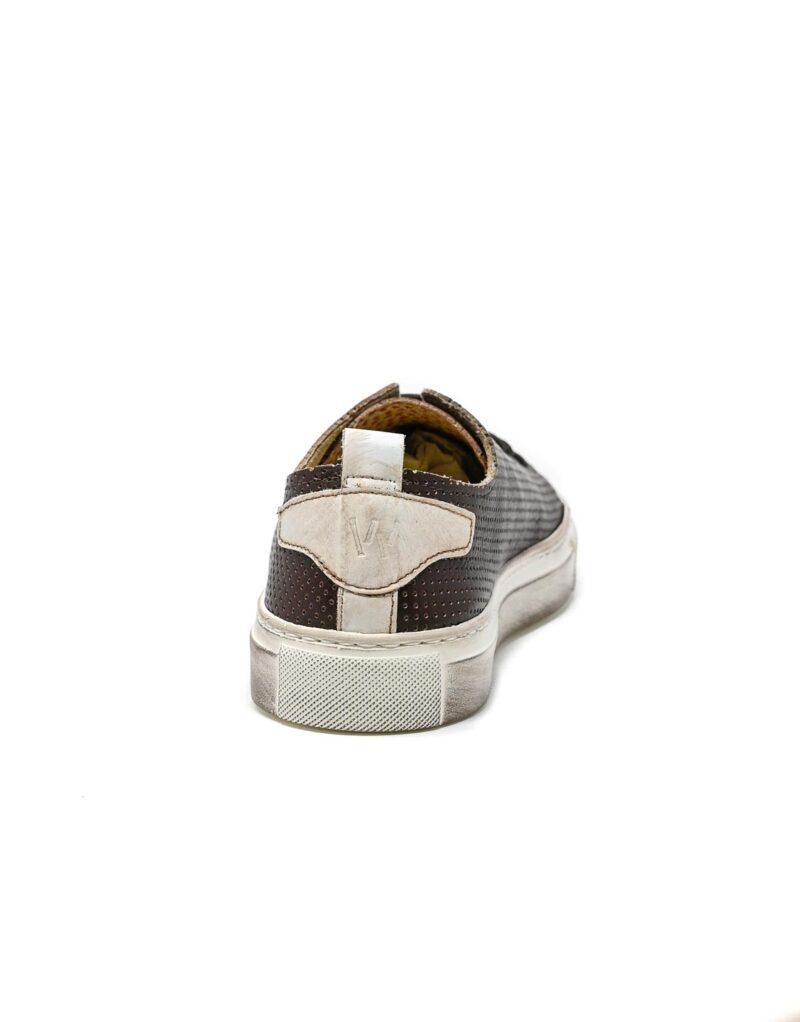 sneaker Prima in pelle traforata america-5518