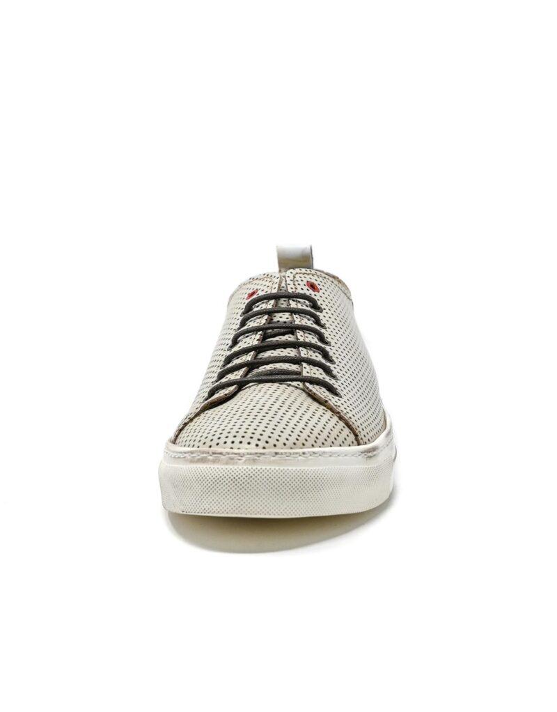 sneaker Prima in pelle traforata bianca-5502