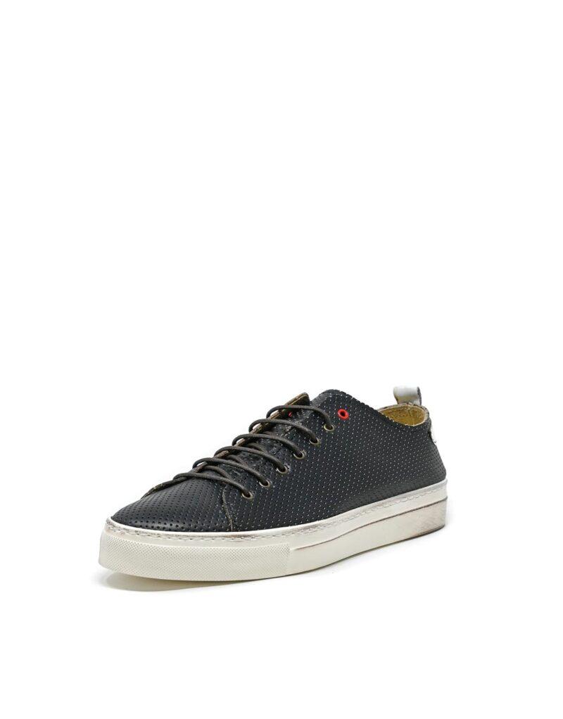 sneaker Prima in pelle traforata blu-5511