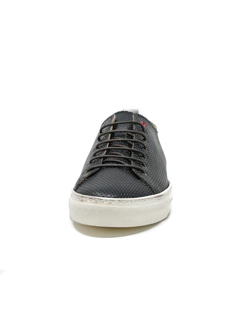 sneaker Prima in pelle traforata blu-5512