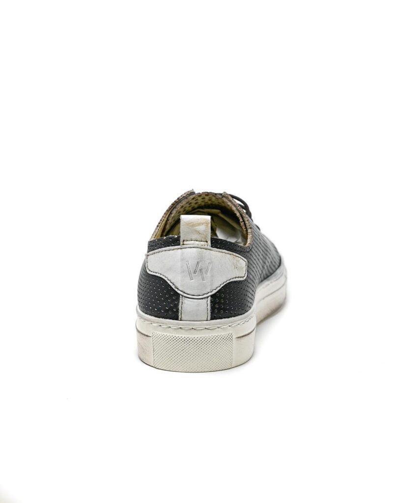 sneaker Prima in pelle traforata blu-5513