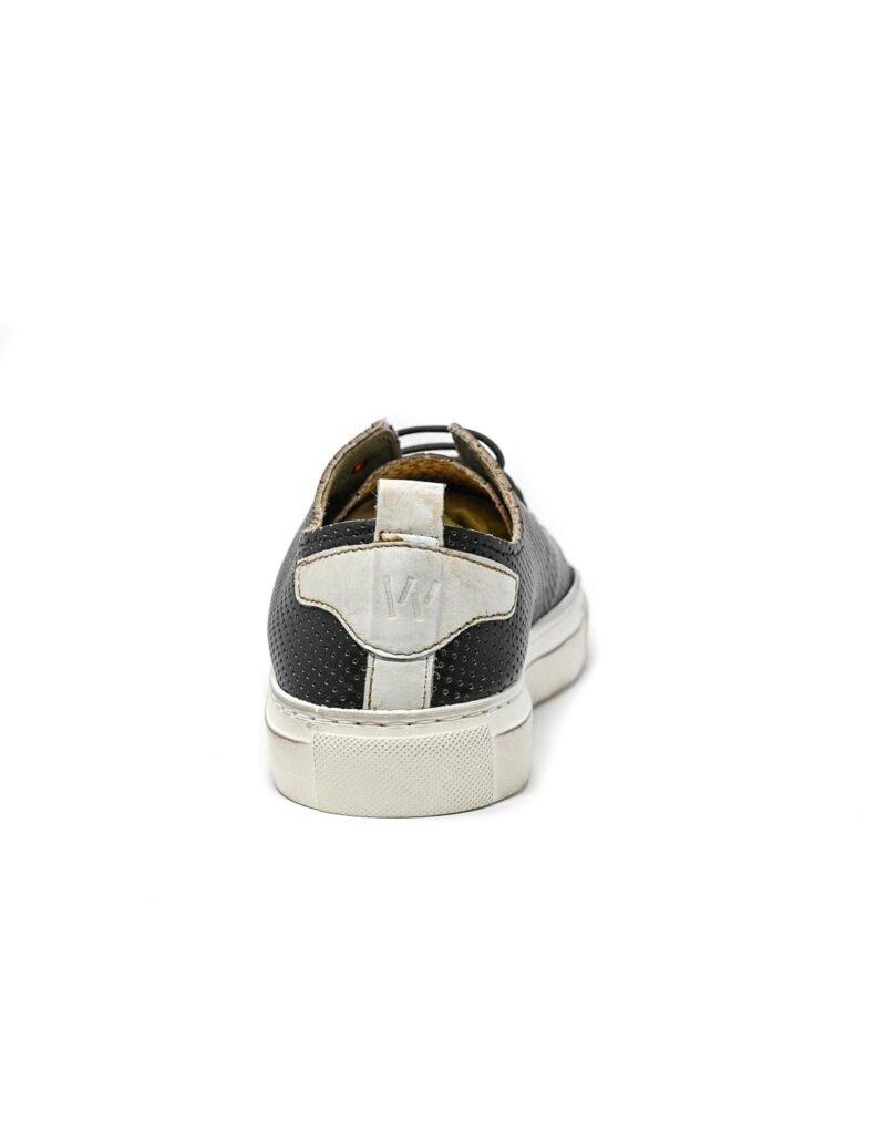 sneaker Prima in pelle traforata nera-5508