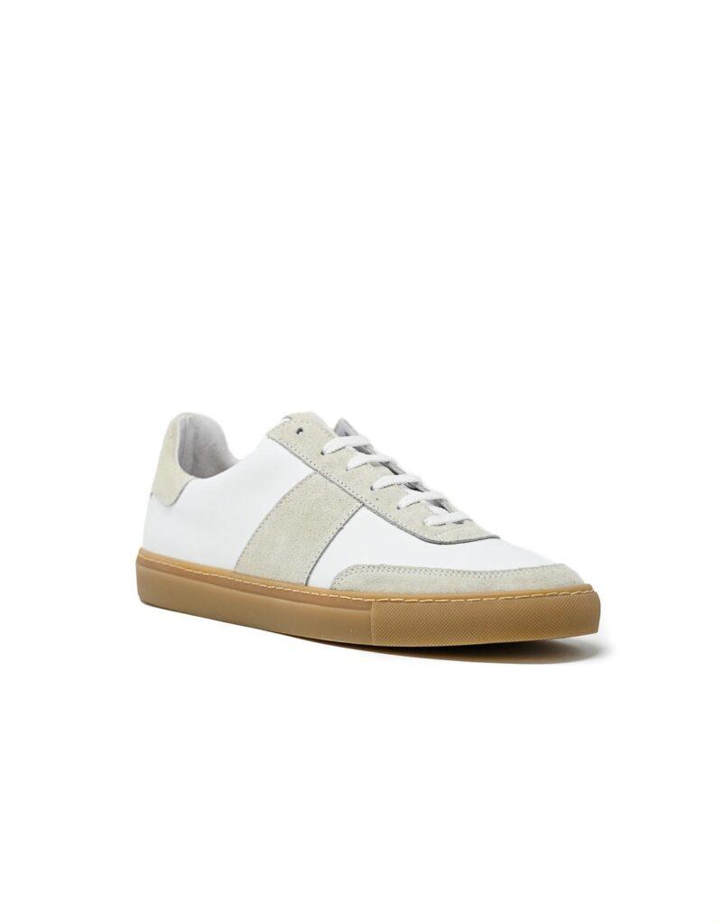 sneaker Trainer in pelle bianca -5093