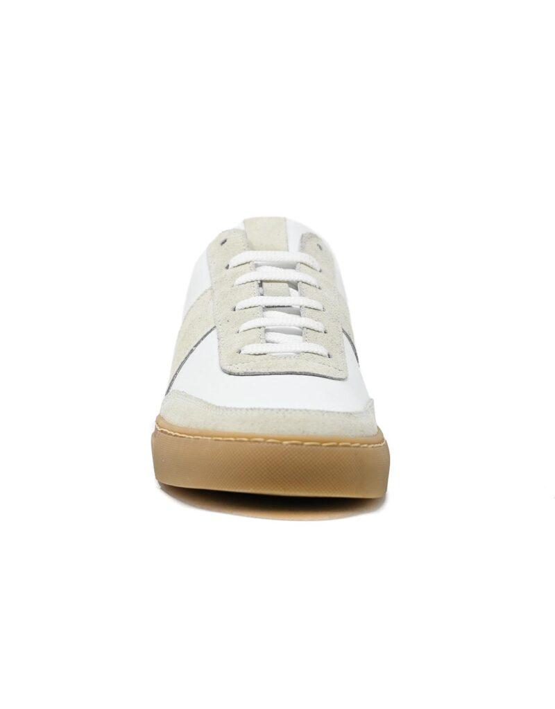 sneaker Trainer in pelle bianca -5094