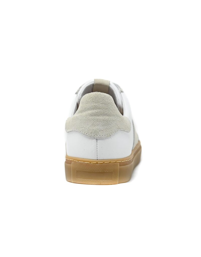 sneaker Trainer in pelle bianca -5095