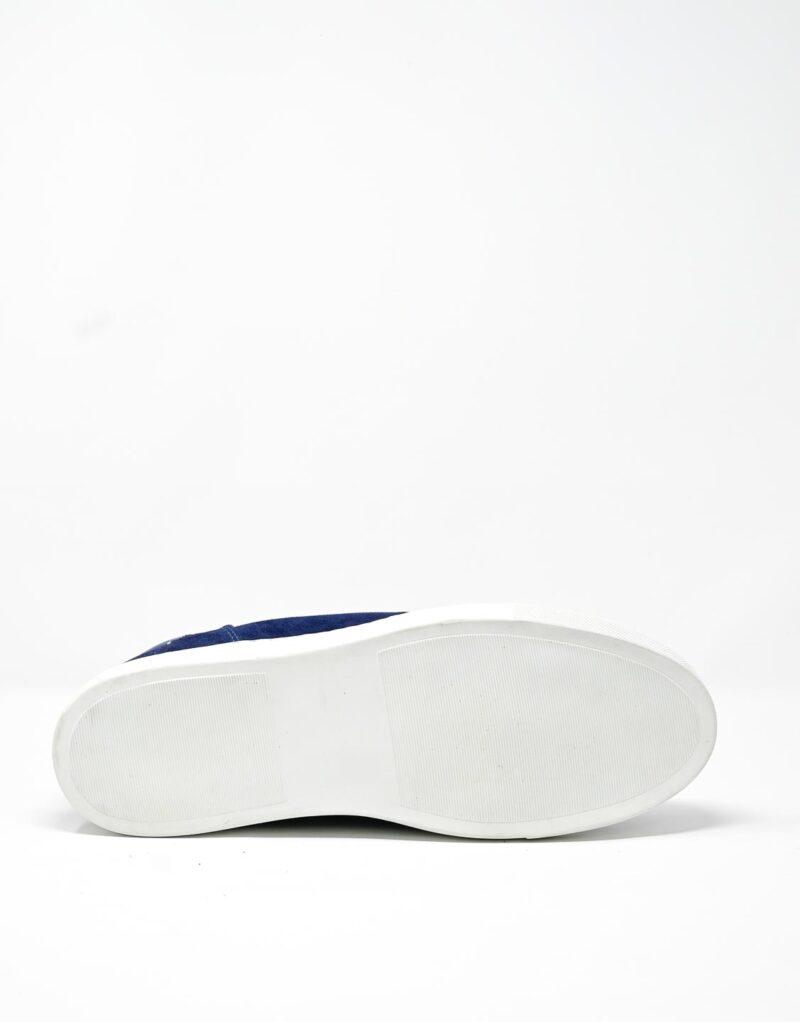 sneaker scamosciata blu-4908