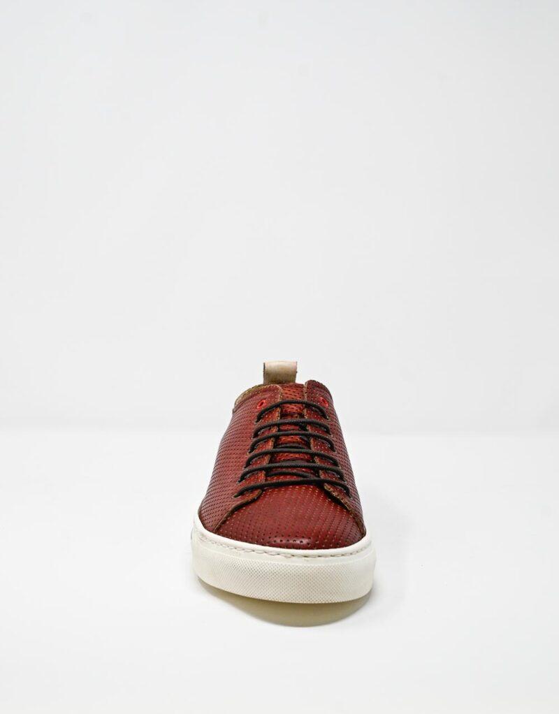 sneaker uomo in pelle traforata Prima rosso – Wally Walker -4412