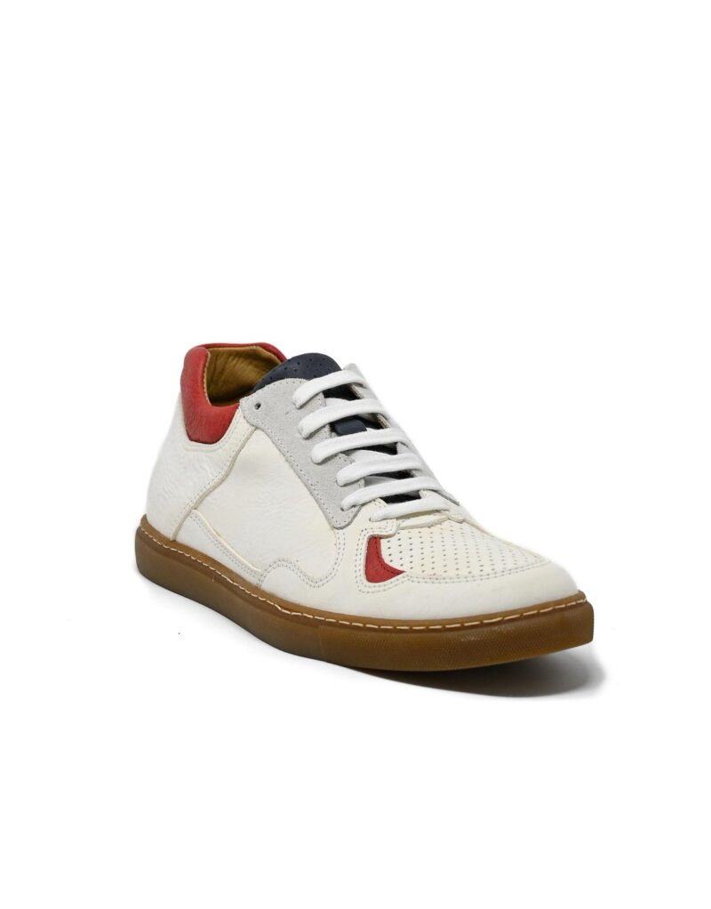 sneaker Sneakers pelle bianca-4895