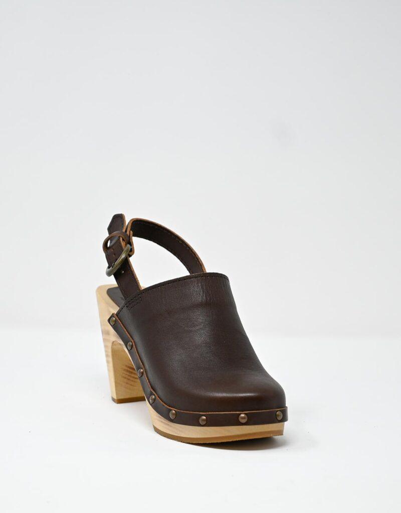 zoccolo in legno e pelle dark chestnut by astorflex-4993