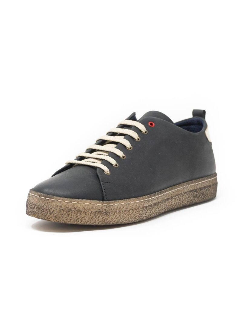 sneaker wally walker pelle Piuma nero-4127